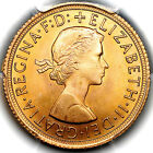 1966 QUEEN ELIZABETH II GREAT BRITAIN GOLD SOVEREIGN COIN PCGS MS65