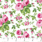 Sweet Jane Northcott Quilt Fabric 1 2 yard Pink Roses on White 20151 10