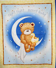 Night Sweet Baby Bear Panel fabric Quilt Cotton 44x36