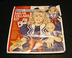 NEW Daisy Kingdom SAILOR COLLARS KIT #N20404NW Fabric Panel Girl + Doll