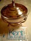 VINTAGE KENT SILVERSMITH 4 PC CHAFING SET, USED ONCE IN BOX