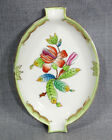 VTG HUNGARIAN HUNGARY HEREND QUEEN VICTORIA PORCELAIN ASHTRAY PEONY FLOWER &GILT