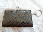 EVAN PICONE  FRAME COIN PURSE WITH KEY RING - ANIMAL PRINT - NEW