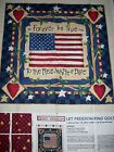 Daisy Kingdom Let Freedom Ring Fabric Panel Patriotic Quilt Wall Hanging