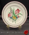 K & G Luneville France Faience Old Strasbourg Tulip Reticulated Plate