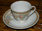 OCCUPIED JAPAN DEMITASSE CUP AND SAUCER FLORAL PATTERN - 1940'S