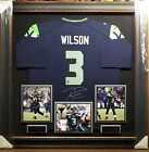 Russell Wilson Signed Seattle Seahawks Jersey Framed w Certificate Authenticity