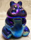 Fenton Glass Favrene Hippo,( Made With Pure Silver in It's Formula)
