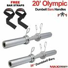 MAXSTRENGTH Chrome 2 Olympic Dumbbells Barbell Bar Weight Lifting Spring Locks
