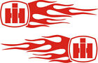 COOL NEW Set of IH Tractor RED Flame Decals for Sled Pulling Tractors - Free S/H