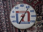 SEAGRAM'S 7 IT'S AMERICA'S WHISKEY VINTAGE THERMOMETER SIGN