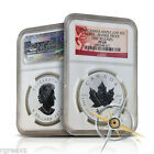 (COOL!!)  2014 1 oz. CANADIAN SILVER MAPLE LEAF HORSE PRIVY PROOF COIN NGC PF69