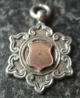 ANTIQUE 1899 HALLMARKED STERLING SILVER &GOLD FOB MEDAL