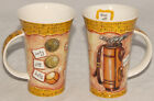 DUNOON - SET of 2 - GOLF THEME Tall Coffee CUPS / MUGS  Design by KATE Mawdsley