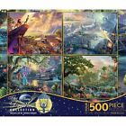 Ceaco 4-in-1 Multi-Pack Thomas Kinkade Disney Dreams Collection Jigsaw Puzzle -