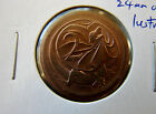 1974 2 cent error coin. BROADSTRIKE! 24mm dia. should be 21.5mm! LUSTRE! RARE!