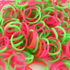 200pcs 10 S Clips Tie Mixed Rubber Band Loom Refill DIY Bracelet Craft Kit 64063
