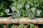 Pair of HEISEY Glass Elegant 3 Light Tier CANDELABRA Candle Holders