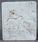 Beautiful Antique 19thC porcelain Lithophane of a Child with Her Big Dog