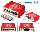 4CH 160W Power HiFi Stereo AMP Amplifier For ipod Car Home PC MP3 FM Audio DC12V