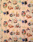 A VINTAGE BUNNIES AND CHICKS STORYBOOK EASTER HOLIDAY COTTON FABRIC BY THE YARD