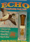 Echo Calls - Timber Poly Double Reed Duck Call - Bourbon/Water - NEW!!