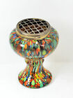 Superb Vintage Venetian Strand Glass Multicoloured Flower Vase - Murano?.