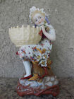 Antique Kister Porcelain Maunfactory KPM Scheibe Germany Girl with Basket C 1887