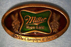 VINTAGE MILLER HIGH LIFE BELT BUCKLE G-169 BERGAMOT BRASS WORKS 1975 USA -L@@K !