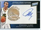 Stephen Curry 2014 Panini National Autograph Golden State Warriors Logo Patch