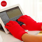 Bright Red Screen Gloves Smart Phone Tablet Knitted Winter Gloves + Package