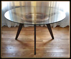 60s Mid Century Modern Adrian Pearsall Walnut w/ Glass Top Dining Table 1135
