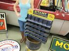 Stant Radiator Caps Display Parts Cabinet Gas Oil Sign RARE Item
