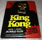 25 Unopened Wax Packs of 1976 Topps KING KONG