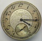 ANTIQUE 1933 ELGIN  POCKET WATCH MOVEMENT & ACCENTED SILVER DIAL 7j 12s **