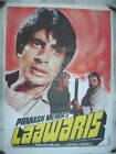 1981 Bollywood Poster LAAWARIS Amitabh 34954