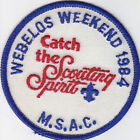 N-147 1984 WEBELOS WEEKEND 1984 CATCH THE SCOUTING SPIRIT M.S.A.C.