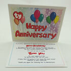 TY Beanie Baby Thank You Letter Card for MC Anniversary Bear #2 (Card only)