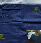 .NEW JOHN DEERE LOGO BLUE DENIM FULL SIZE TAILORED BED SKIRT BEDDING