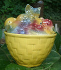 Rare Fruit Basket Cookie Jar by Shawnee Pottery - vintage 1950s, container, old