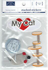Karen Foster CAT Stacked Stickers scrapbooking MOUSE YARN SCRATCHING POST