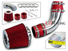 99 03 Chevy Tracker 16 20 L4 Short Ram Air intake Kit +RED FILTER