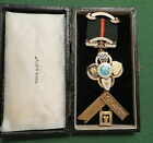 1952 SILVER MASONIC CRAFT PAST MASTERS BREAST JEWEL QUEEN MARYS LODGE 3327 (9C)