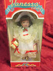 1998 PORCELAIN VANESSA COLLECTION HOLIDAY DOLL NIB