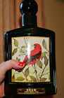 Vintage Jim Beam Decanter Red Bird, Kentucky Scarlet Tanger Green whiskey bottle