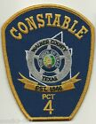 New WALKER County CONSTABLE State TEXAS Police Patch TX PCT 4