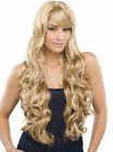 Flaxen Mix Blonde Full-Volume Curls Hair Wigs Synthetic Sexy Women's Long Wig 12