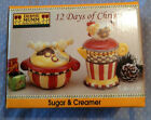 Sakura Debbie Mumm 12 Days of Chistmas Sugar & Creamer Set Figural Pieces