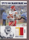2012 Panini Prominence Black And Blue 3 Color Chiefs Jersey Patch Jamaal Charles