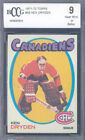 1971-72 topps #45 KEN DRYDEN rookie card BGS BCCG 9 (perfect 50-50 centering)